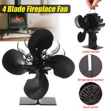 335℃ 4Blade Fireplace Fan Thermal Fire Heater Power Stove Fan Household Eco Fan