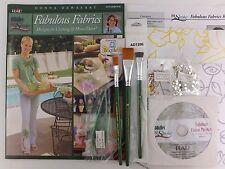 Donna Dewberry One Stroke Fabulous Fabrics Kit Book + DVD + 3 Brushes + Transfer