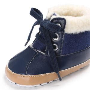 Fashion Infant Toddler Winter Warm Boots Trainer 0-18 Newborn Baby Boy Crib Shoe