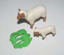 Playmobil Accessoire Décor Animal Lot Veau Marron + Petite Vache NEUF