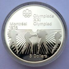 Canada 5 Dollars 1976 Silver coin Proof Boxers - Montreal Olympics Games 1976 !