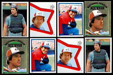 (8) GARY CARTER 1980's TOPPS STICKERS - HALL OF FAME - MONTREAL EXPOS CATCHER