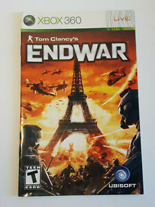 Tom Clancy`s EndWar Xbox 360 INSTRUCTION MANUAL ONLY ! excellent condition