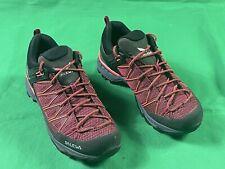 Salewa 3F Hiking Trail Low Boots Waterproof Gore-Tex Red Women's SZ US 9 EU 40.5