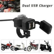 Dual USB Port 12V Motorbike Motorcycle Charger Power Adapter Socket Waterproof