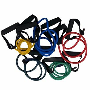 Prosource Fit Tube Resistance Bands At Home Workout Weight Training Lot of 5