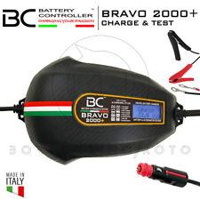 MANTENITORE CARICABATTERIE BC BRAVO 2000+ 100AH MOTO + CONNETTORE 12V GRATIS