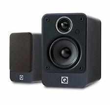 Q Acoustics Black Bookshelf Home Speakers and Subwoofers