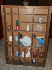 CHARMING Vintage Rustic Wooden SHADOW BOX Wall Shelf Full Of Miniatures!