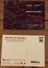 Paths of Glory Stanley Kubrick promotional postcard, new