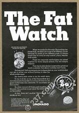1967 Movado Chronodiver scuba diving diver watch photo vintage print ad