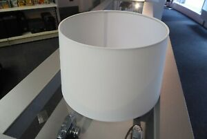Large white drum shaped light shade lampshade 38 max. x 23cm height lightshade