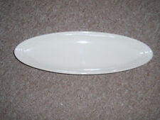 """Longaberger Pottery, Wt """"Long Oval Tray"""", In Ivory. New!"""