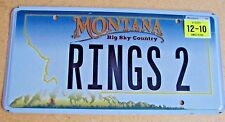 "MONT VANITY LICENSE PLATE "" RINGS 2 "" RING JEWELRY JEWELER GOLD DIAMOND WEDDING"