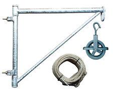 Bauaufzug-Set max. 200 kg schwenkbar, Handaufzug, Gerüstaufzug, Seilzug, Konsole