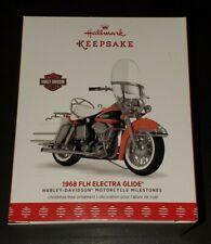 2017 Hallmark Keepsake Ornament 1968 Harley Davidson FLH Electra Glide