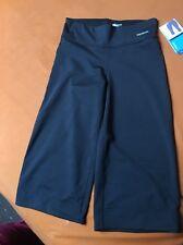Reebok PlayDry Womens Small Length Capri Pants  UK   Black Bottoms leggings