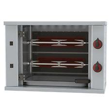 Gastronomie Gas Hähnchengrill Maschine mit Beleuchtung, 2 Spieß für 6 Hähnchen
