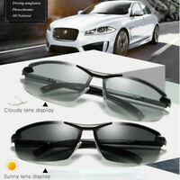 HD Polarized Photochromic Sunglasses Men Sports Chameleon Lens Driving Glasses