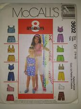 McCall's 3677 Size 10 12 14 Girls' Tops Skorts