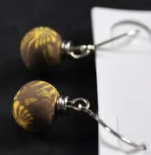 Clay Beads Handcrafted Artisan G2 Jilzara Persian Tile Petite Earrings Polymer