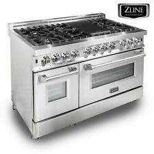 "Zline 48"" Stainless Steel 6.0 cu.ft. 7 Gas Burner/Electric Oven Range (Ra48)"