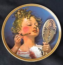 Norman Rockwell Making Believe in the Mirror Plate 8.5 1982