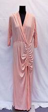 Sexy Diva Women's Front Slit Maxi Dress MW7 Pink Plus Size 3XL NWT