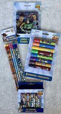 Toy Story 4 School Supplies, 24 Crayons, 8 Markers, 6 Pencils #2, & Jumbo Eraser
