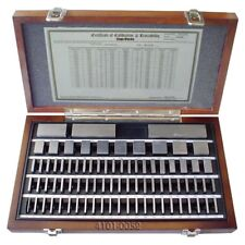 81 PIECE SQUARE STEEL GAGE BLOCK SET (GRADE 3/GRADE AS-1) (4101-0005)
