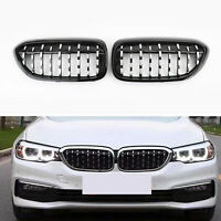 New Black & Chrome Front Diamond Kidney Grille For BMW 5 Series G30 G38 17-2019
