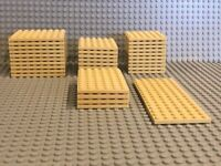 LEGO Studded Base Plates - Lot of 33 Tan Plates: From 8 x 8 to 6 X 16