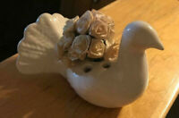 Vintage Porcelain Dove Pigeon St Paul de Vence, France Pottery wedding