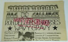 Hog Callings Vol. 1 No. 6 Wavy Gravy vtg Berkeley newspaper Ben Cohen 1990 hippy