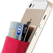 Sinjimoru B3 Stick-On Card Holder Wallet Case for Smartphones and Mp3 Devices.