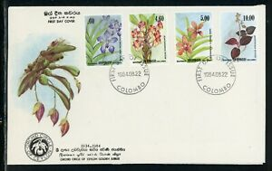 Sri Lanka Scott #722-725 FIRST DAY COVER Orchids Flowers FLORA $$