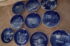 Lot of 10 Bing & Grondahl Collectible Porcelain Christmas Plates Jule After 1967