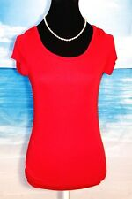 THE LIMITED Womans RED Stretch Casual Juniors Shirt Top M