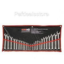 Wrench Set Metric Combination 24 Piece Mechanics Tool Case Garage Kit Work SAE