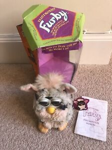 Vintage Furby 1998 With Tags, Instructions, Original Box Model 70-800 Not Workin