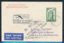 42669) AUA FF Wien - London 31.3.58 Brief ab Belgien