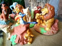 DISNEY LION KING, SIX (6) BRAND NEW LIL CLASSICS VINTAGE PVC FIGURINES, MINT