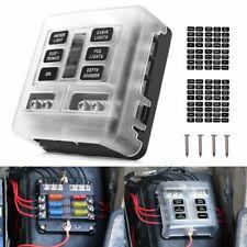 New listing Car Marine 6-Way Blade Fuse Box Block Holder Led Indicator 12/24V Waterproof Us
