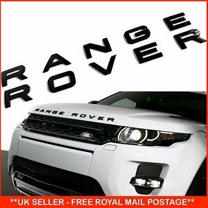 Gloss Black Badge Decal For Range Rover, Sport, Evoque & Vogue - Bonnet / Boot