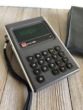 Vintage Sharp ELSI 122 Calculator Green LED Screen Case Power Supply Cord Euc