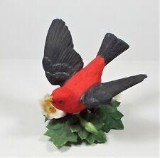 1992 Lenox Garden Bird Collection Scarlet Tanager w/n Coa Original Box Excellent