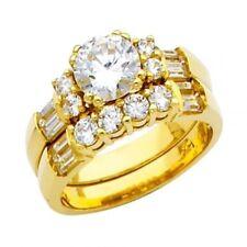 14k or 2 Carats Imitation Diamant Fiançailles & Anneau Mariage Duo Set Mariage