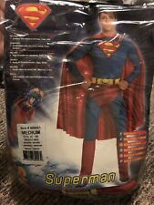 Superman Super Hero Adult Stag Halloween Party Outfit Mens Costume Size Medium