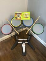 XBox 360 Rock Band Electronic Drum Set includes Guitar Hero Game And Metal Pedal