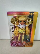 NEW Rainbow High Cheer Sunny Madison Yellow Fashion Doll w Pom Pom New